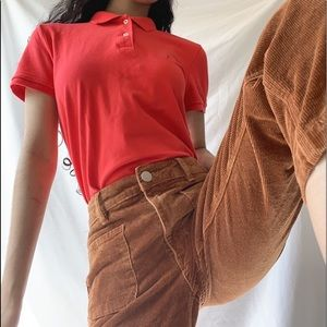 Salmon button up Tommy Hilfiger top